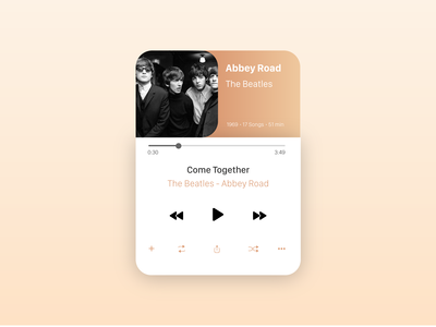 Music Player - Redesign from 2015 version