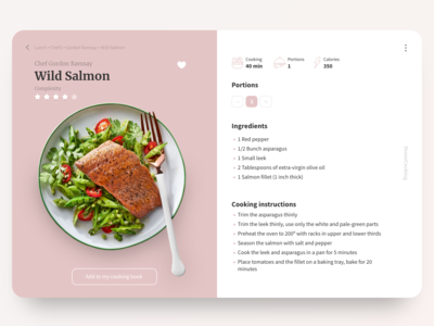 Recipe Card - Redesign from 2015 version