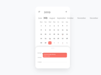 Calendar Card - Redesign from 2015 version