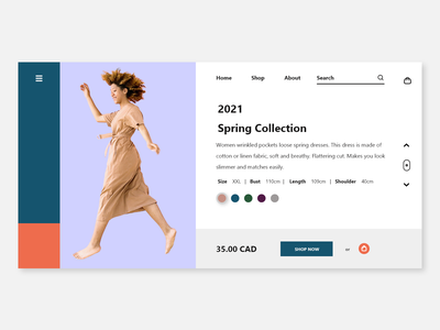 Shopping Page adobe xd adobe adobexd web design ui minimal web responsive design