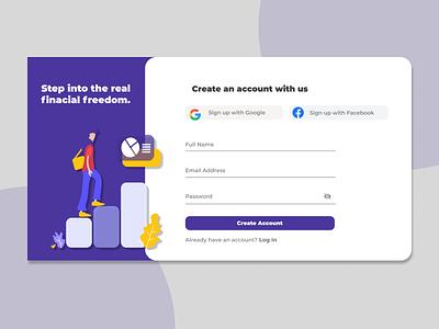 Figma Designs - Sign Up Page figma design responsive web design web figma ui minimal design