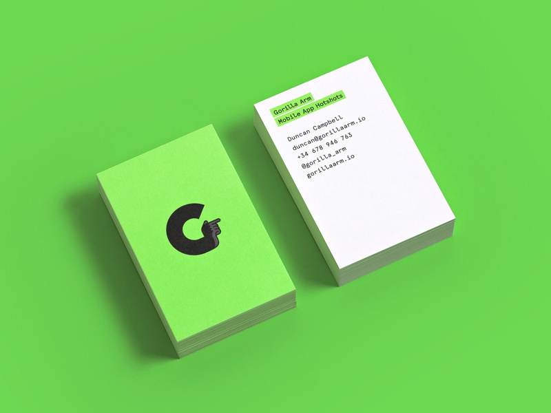 Gorilla Arm  business card