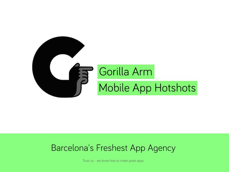 New Gorilla Arm website agency app webdesign web ui