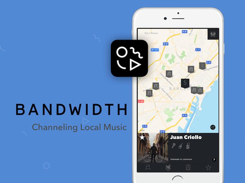 Bandwidth - Channeling Local Music ui ux ios app