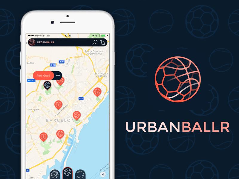 UrbanBallr logo icon graphicdesign userinterface ui ux app