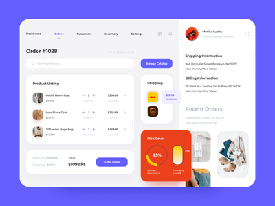 Order - Dashboard lists product table client customer managment shopping concept marketplace data information dashboad uidesign uiux ui