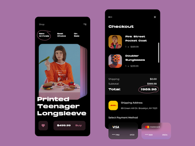 Store Concept concept design concept interface application payment checkout page checkout modernism brutalism uidesign ui store app store shopping app shopping appdesign app