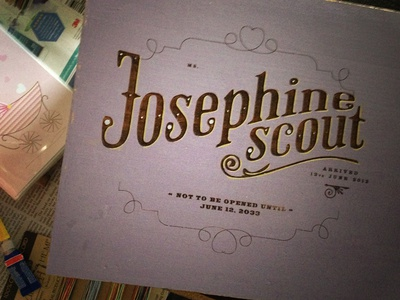 Josie Scout Time Capsule