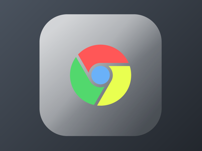 IOS Chrome Icon Frosted Glass vector ui illustration icon