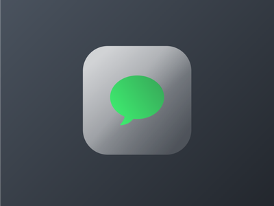 IOS Message Icon Frosted Glass ux ui illustration icon