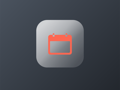 IOS Calendar Icon Frosted Glass ui illustration icon