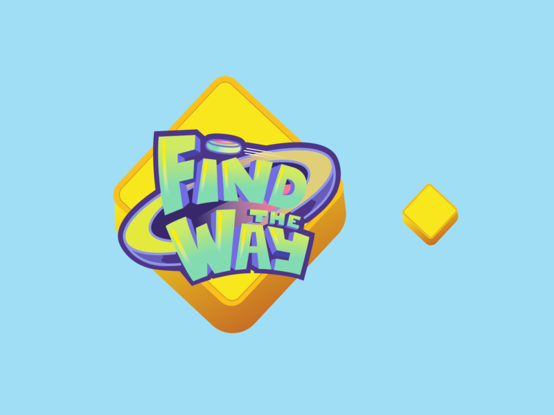 Find The Way 3D Logo app game iphone ui 3d design color icon illustration vector logo design branding logo
