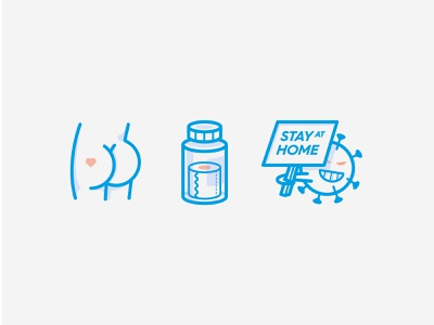 Short summary of 2020! butt stayhome 2020 covid life typography design color icon vector illustration