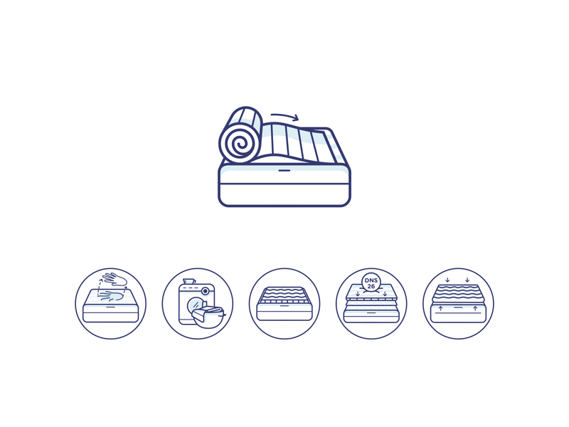 Bed Icons sleep clean typography branding ui design color vector illustraion icon bed