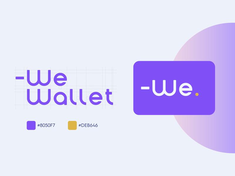 -We Wallet Custom Logo & Identity Systems design color icon vector illustration typography website uıdesign card money family wallet logo brand