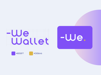 -We Wallet Custom Logo & Identity Systems design color icon vector illustration typography website uıdesign card money family wallet logo brand