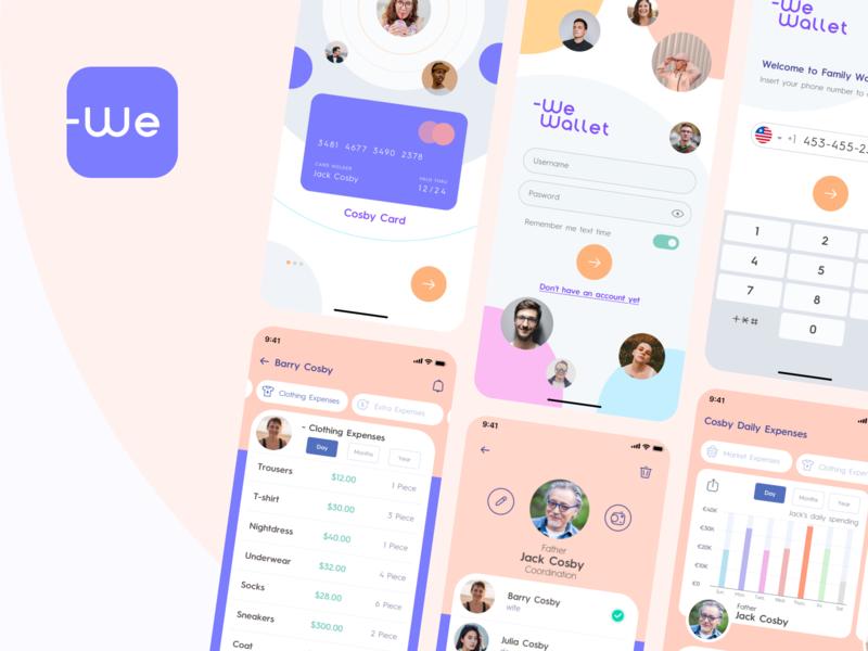 -We Wallet App Design finance user appdesign color logo appicon app typography design icon vector ui illustraion uidesign mobile wewallet