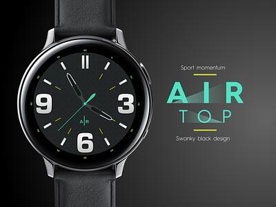 Samsung Galaxy Watch - Air Top sketch typography branding ui design icon vector illustration store watch samsung galaxy samsung
