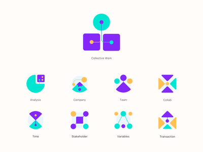 Toolf some icons web branding color illustration vector ui transaction variables stakeholder team analysis company icon toolf