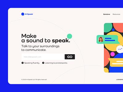 Landing Pages - Speak webdesign user landingpage ux typography branding ui design color logo icon vector illustration uıdesign