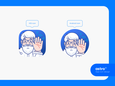 Astro + : Brand app icon / Illustration typography branding ui design color appicons hand iphone fortune teller brand illustraion zodiac logo icon astrology