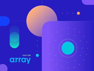 Array / Some icon set project freelance gradient flat 3d graphic design uiset dropdown array iconset branding ui design color logo icon vector illustration