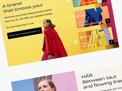 HÄR Fashion Home Page landingpage moda fashion typography ux branding design color logo icon vector illustration ui website homepage har