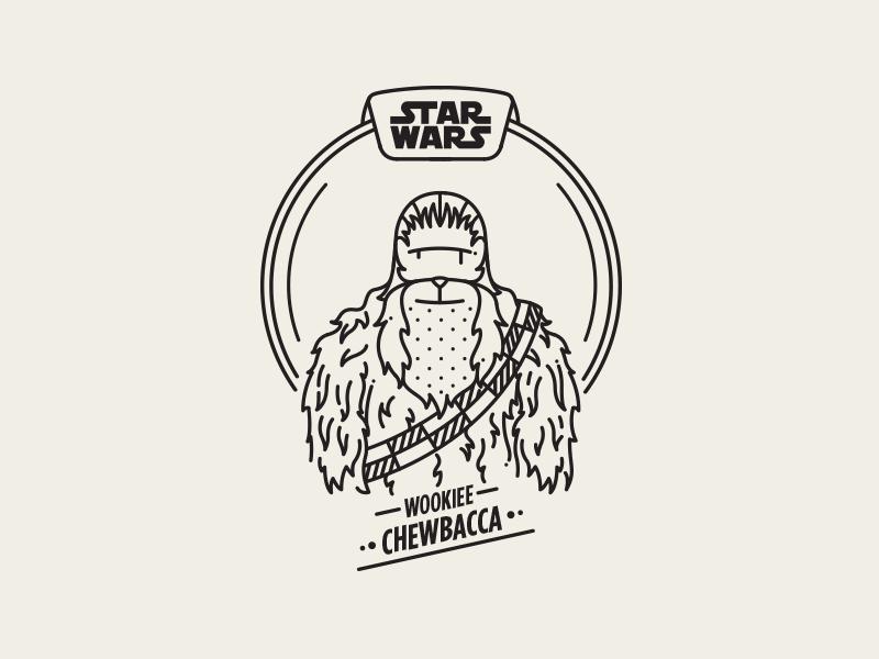 Chewbacca saber light wars beard illustration vector wookiee episode hairy chewbacca starwars