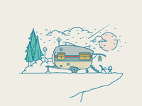 Caravan camping area