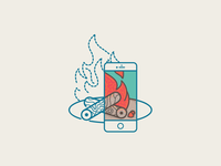 iPhone + Camp Fire