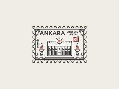 Dribbble Ankara Meetup Logo 2016 heart illustration vector icon fire turkey flag meetup dribbble ankara logo