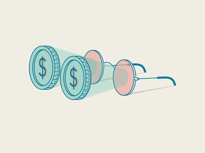 Ambitious and moneyed illustration ambitious coin icon vector penny money glasses