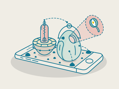 Incubation House  iphone code egg ui app mobil illustration vector office house project incubation