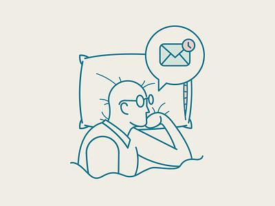 Nightmare Message sleep work client rob vector icon envelope message nightmare