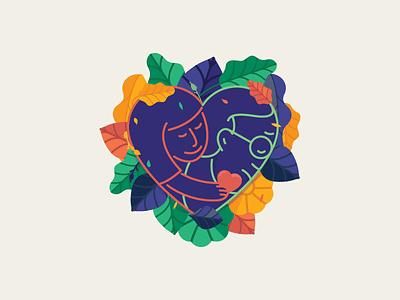Give Him Hope! illustration sharing generosity old young leaf flowers vector hope give stickermule