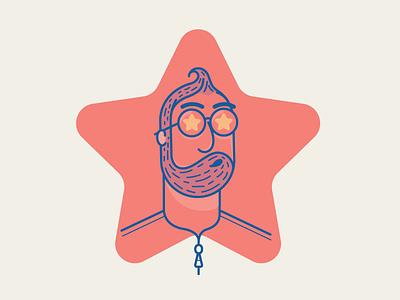 Phenomenon icon vector illustration man ego star phenomenon