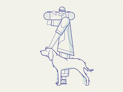 Best Friend Forever life man skateboard illustration vector icon animal dog forever friend best