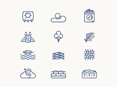 MUYU Beds : Icon set