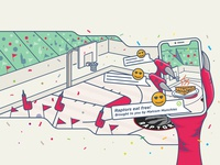 Augmented ads and activations illustration