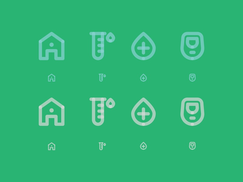 Health icons opacity color iphone app branding healthy plus home health ui design vector logo illustration icons icon