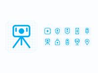 24px Point icon set