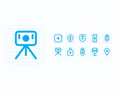 24px Point icon set iconapp space iphone ui design color vector illustration iconset app icon