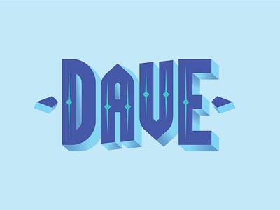 Dave Logotype typography branding design vector illustration blue color gradient logotype dave