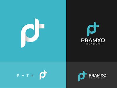 PT Letter Mark Logo graphic letter mark logo pt logo