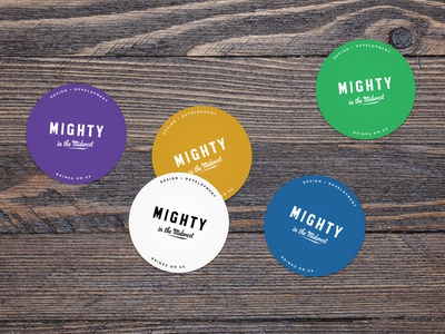 Mighty Coasters print swag coasters