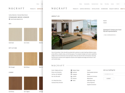 Nucraft furniture website