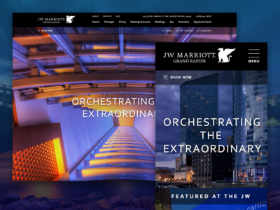 JW Marriott hospitality website