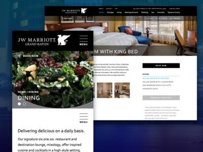 JW Marriott Grand Rapids hospitality website