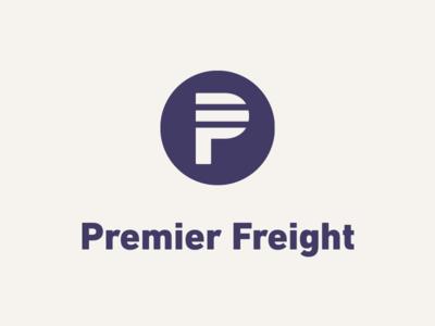 Premier Freight Logo: Vertical Lockup logo