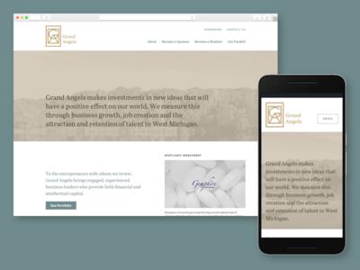 Grand Angels web design website